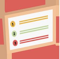 Bildbeschreibung: Checkliste 1 - 3.